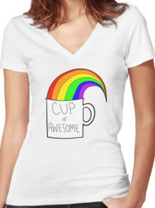 New cup of awesome Women's Fitted V-Neck T-Shirt