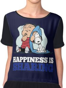 Snoopy and Charlie Brown Quote Chiffon Top