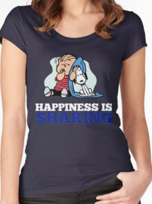 Snoopy and Charlie Brown Quote Women's Fitted Scoop T-Shirt