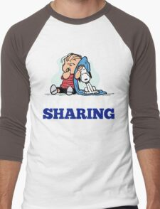 Snoopy and Charlie Brown Quote Men's Baseball ¾ T-Shirt