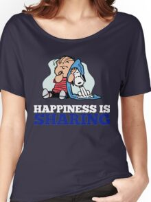 Snoopy and Charlie Brown Quote Women's Relaxed Fit T-Shirt