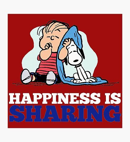Snoopy and Charlie Brown Quote Photographic Print