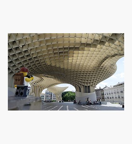 The Lego Backpacker in Seville Photographic Print