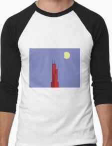 Chicago Willis Tower Men's Baseball ¾ T-Shirt