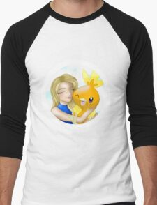 """Torchic"" Men's Baseball ¾ T-Shirt"