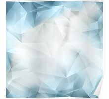 Abstract Crystal Background Poster