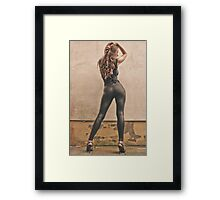 Obscene Leggings. Love Them! Framed Print
