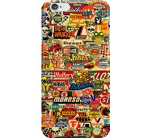 Car Racing Decals all of them vintage! iPhone Case/Skin