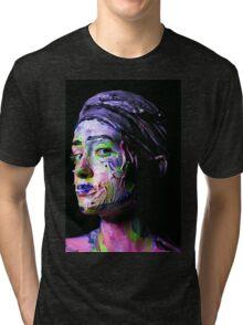 Colourful expressive portrait painting Tri-blend T-Shirt