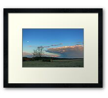 Shelf Cloud with Moon Framed Print