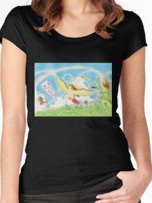 pokemon southern islands artwork Women's Fitted Scoop T-Shirt