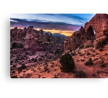 South Window Arch At Sunrise - Moab - Utah Canvas Print