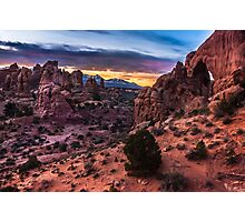South Window Arch At Sunrise - Moab - Utah Photographic Print