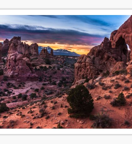 South Window Arch At Sunrise - Moab - Utah Sticker