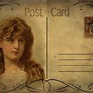 Post Card - Victorian girl by © Kira Bodensted