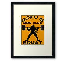 Goku`s 225 Club Squat Dragon Ball Z Framed Print