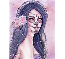 Chantilly Rose day of the dead art by Renee Lavoie Photographic Print