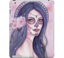 Chantilly Rose day of the dead art by Renee Lavoie iPad Case/Skin