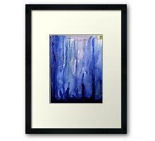 Stalagmites in Blue Framed Print