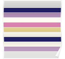 Vintage Colorful Beautiful Stripes Vintage Edition. NEW Design authentic Collection.  SPRING / SUMMER 2016 Poster