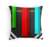 Vertical - Simple and  Material Digital Design Throw Pillow