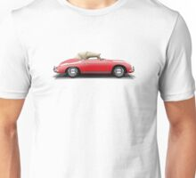 Porsche 356A Speedster (red) Unisex T-Shirt