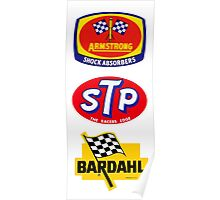 STP Armstrong Bardhal vintage race stickers Poster