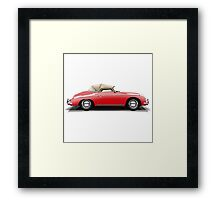 Porsche 356A Speedster (red) Framed Print