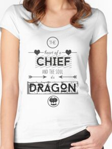 "How To Train Your Dragon 2 ""Heart of a Chief"" Women's Fitted Scoop T-Shirt"
