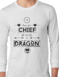 """How To Train Your Dragon 2 """"Heart of a Chief"""" Long Sleeve T-Shirt"""