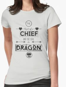 "How To Train Your Dragon 2 ""Heart of a Chief"" Womens Fitted T-Shirt"