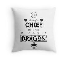 """How To Train Your Dragon 2 """"Heart of a Chief"""" Throw Pillow"""