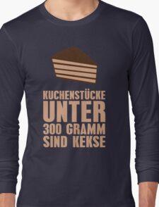 Kuchenstücke unter 300 Gramm sind Kekse Long Sleeve T-Shirt
