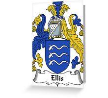 Ellis Coat of Arms / Ellis Family Crest Greeting Card