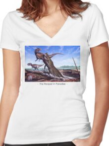 Reaper in Paradise Women's Fitted V-Neck T-Shirt