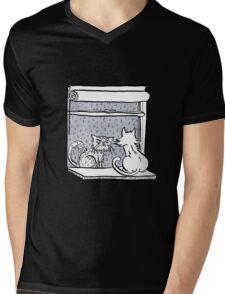 Window Cats Mens V-Neck T-Shirt