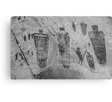 Horseshoe Canyon Great Gallery Group Pictographs Metal Print
