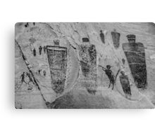 Horseshoe Canyon Great Gallery Group Pictographs Canvas Print