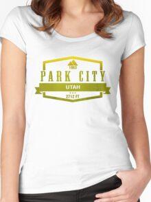 Park City Ski Resort Utah Women's Fitted Scoop T-Shirt
