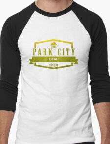 Park City Ski Resort Utah Men's Baseball ¾ T-Shirt