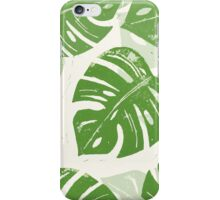 Linocut Leaf Pattern iPhone Case/Skin