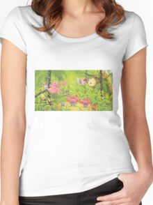 pokemon southern islands artwork 3 Women's Fitted Scoop T-Shirt