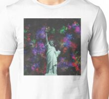 Mixed Media Statue of Liberty Unisex T-Shirt
