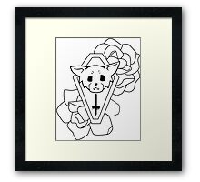 Kitty Casket Framed Print