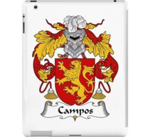 Campos Coat of Arms/Family Crest iPad Case/Skin