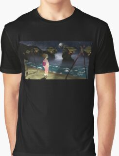 A Girl and the Moon Graphic T-Shirt