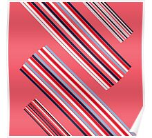 """Vintage Colorful Beautiful Stripes Vintage """"Peach"""" eco Edition. NEW Design authentic Collection. Poster"""