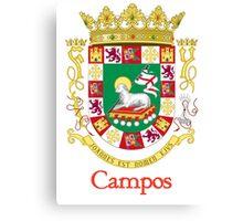 Campos Shield of Puerto Rico Canvas Print