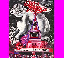 """An Evening with Ratdog Valentine's Day 20014 -PINK"" by Kevin J Cooper"