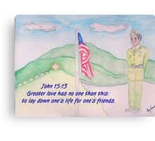 For our Fallen Soldiers Canvas Print